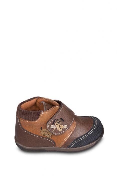 0126A4 Kifidis Melania Hakiki Deri İlk Adım Çocuk Ayakkabısı 19-24 Kahverengi / Testamoro