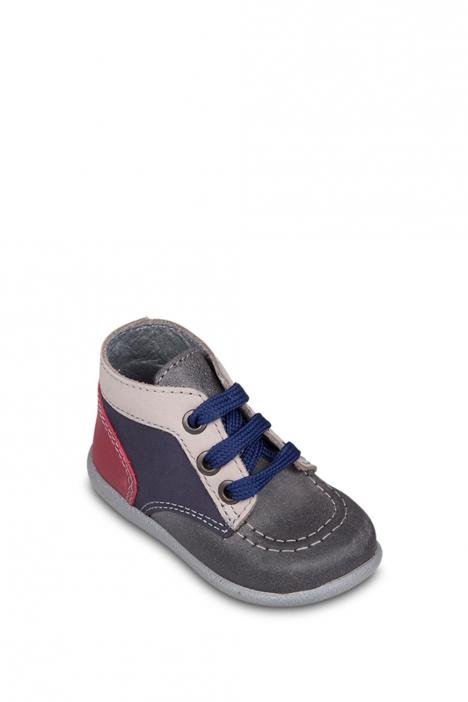 0130A4 Kifidis Melania Hakiki Deri İlk Adım Çocuk Ayakkabısı 19-24 GRIGIO-GRİ TONU