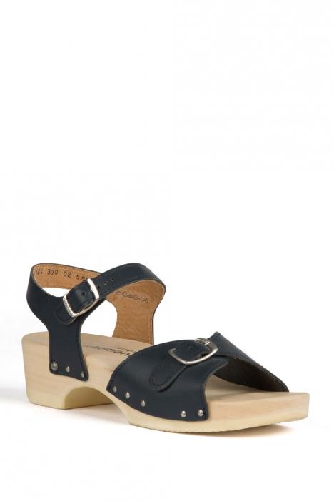 0164 Berkemann Kadın Ahşap Sandalet 36-40 Lacivert / Navy