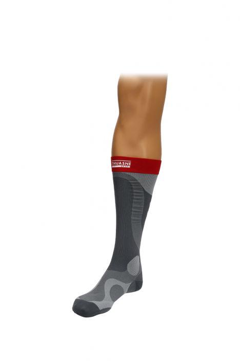 0341 Thuasne Spor Esnasında Kullanılan Kompresyon Çorabı Kırmızı / Red