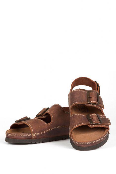0395 Ch-Kifidis Kadın Sandalet 36-40 Kahverengi / Brown