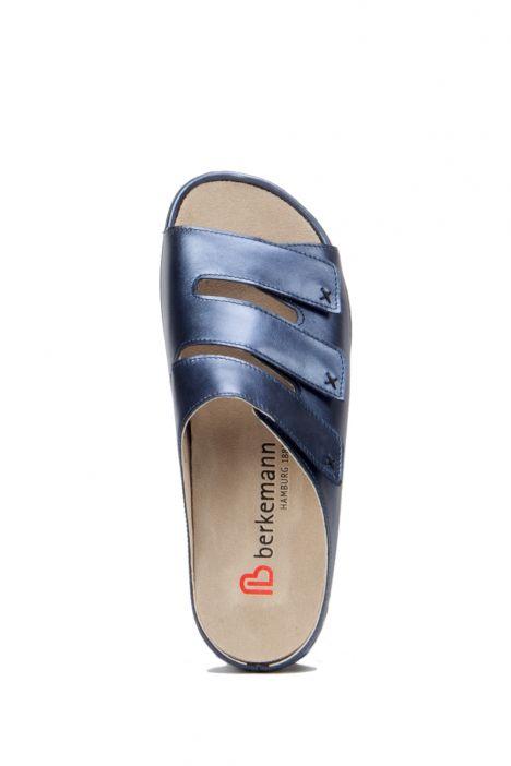 1007 Berkemann Kadın Terlik 3-8,5 Blau Perlatoleder - 364