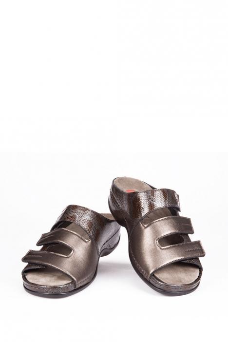 1013 Berkemann Kadın Terlik 3-8,5 Broze Leather Phyton Strc. - 627