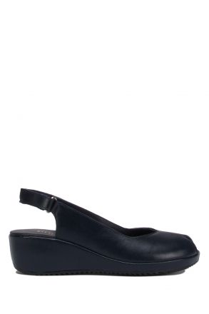 1017-AT Kifidis Alegre Kadın Deri Anatomik Topuklu Sandalet 36-40