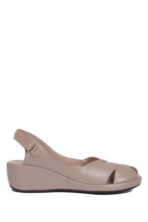 1018-AT Kifidis Elena Kadın Deri Anatomik Topuklu Sandalet 36-40