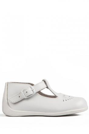 102 Kifidis Angel Hakiki Deri İlk Adım Ayakkabı 19-24 Beyaz / Bianco