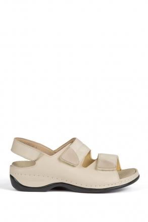 1020 Berkemann Kadın Sandalet 3.0-8.5 Beige Leder Stretch - 725