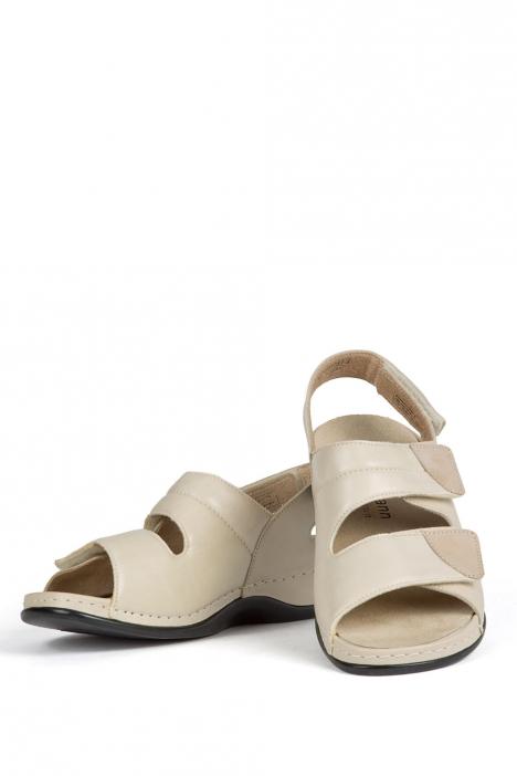 1020 Berkemann Kadın Anatomik Sandalet 3.0-8.5 Beige Leder Stretch - 725