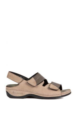 1020 Berkemann Kadın Sandalet 3.0-8.5 Stone Nubuk / Grau Strc. - 988