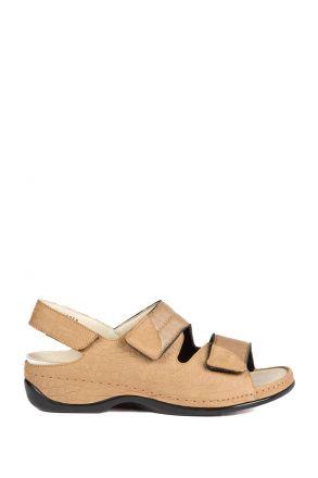 1020 Berkemann Kadın Anatomik Sandalet 3.0-8.5 Taupe Kroko / Strc. - 402
