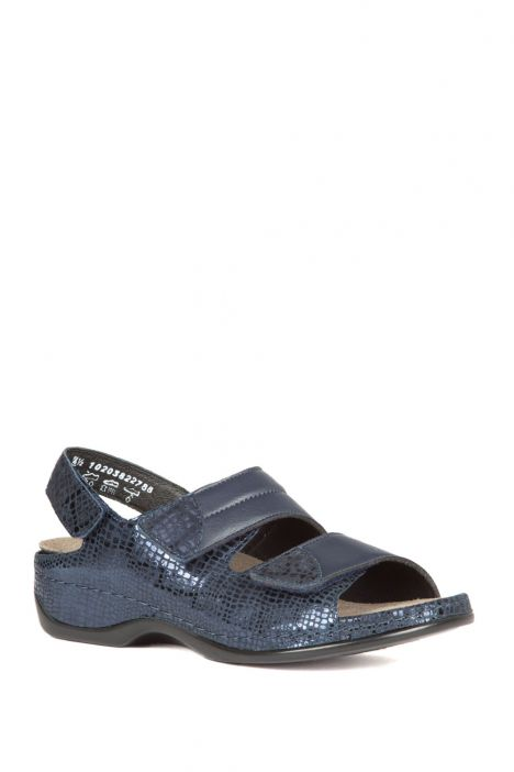1020 Berkemann Kadın Sandalet 3.0-8.5 Blue Metallic Leather - 382