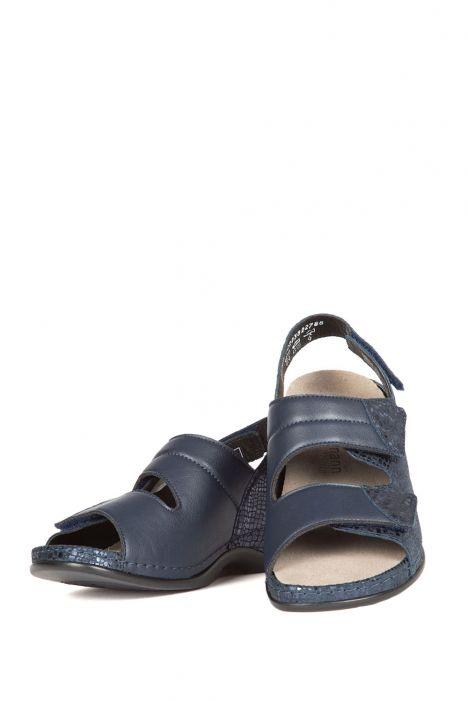 1020 Berkemann Kadın Anatomik Sandalet 3.0-8.5 Blue Metallic Leather - 382
