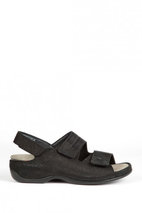 1020 Berkemann Kadın Sandalet 3.0-8.5 Schwarz Kroko/Str. - 955