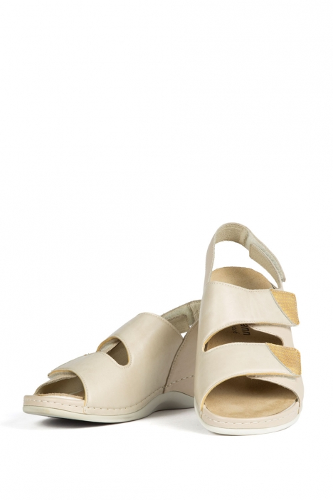 1020 Berkemann Kadın Anatomik Sandalet 3.0-8.5 Beige Leder Stretch - 737