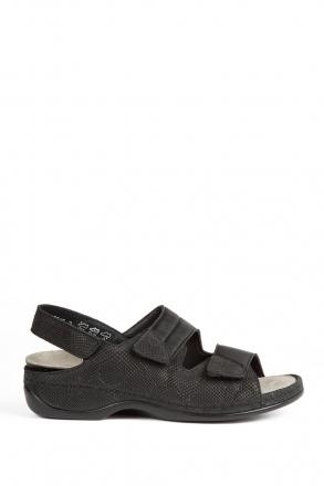 1020 Berkemann Kadın Sandalet 3.0-8.5 Nubuk Schwarz/Str - 921