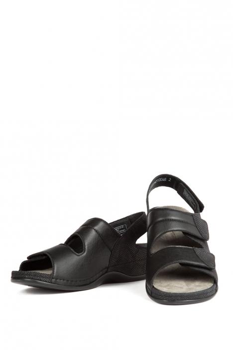 1020 Berkemann Kadın Anatomik Sandalet 3.0-8.5 Nubuk Schwarz/Str - 921