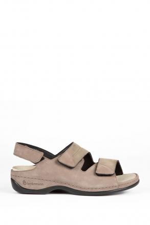 1020 Berkemann Kadın Anatomik Sandalet 3.0-8.5 Grau Nubuk / Strc. - 922
