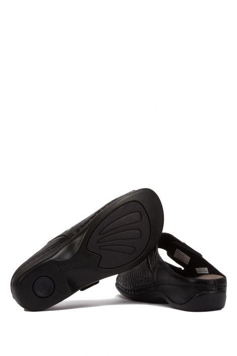 1021 Berkemann Kadın Anatomik Terlik 3-8,5 Siyah - Midnite black-leather/structured - 946