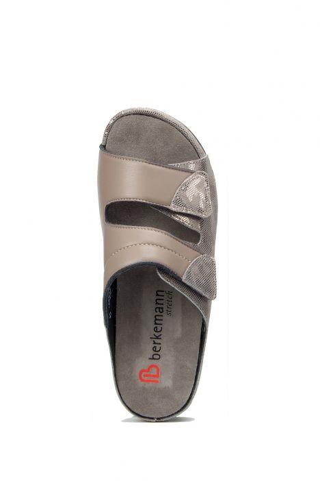 1021 Berkemann Kadın Anatomik Terlik 3-8,5 Bronze/Combs/Shiny Leather/Str. - 414