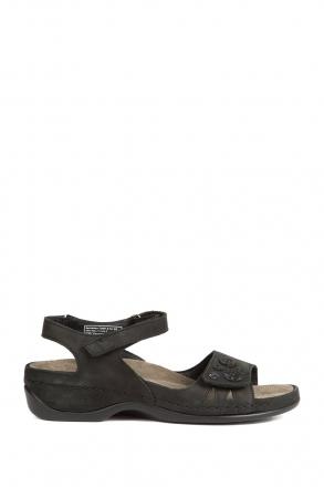 1026 Berkemann Kadın Sandalet 3.0-8.5 Schwarz Nubukleder - 910