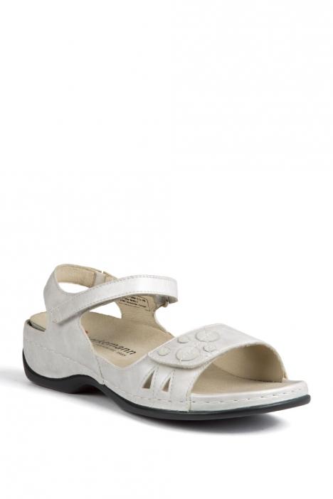 1026 Berkemann Kadın Anatomik Sandalet 3.0-8.5 Weiss Perlato Leder - 173