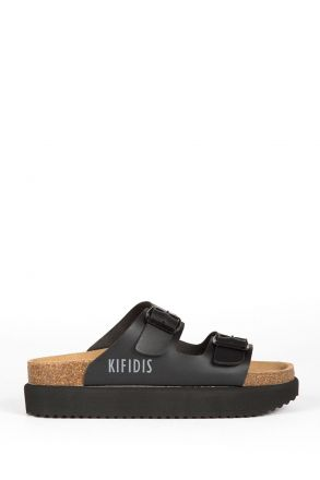 10260 Ch-Kifidis Kadın Terlik 36-42 Siyah / Black