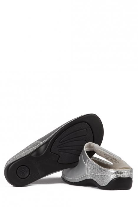 1027 Berkemann Kadın Anatomik Terlik 3.0-8.5 Silver Leather - 632