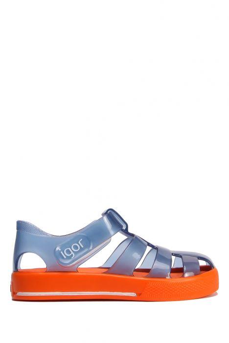 10270 Igor Star Çocuk Sandalet 21-27 Cr.Marino-Naranja