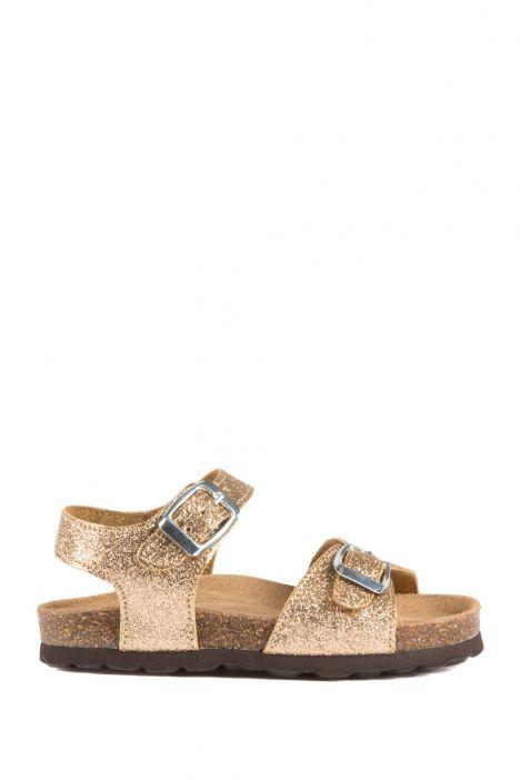 10273 Ch-Kifidis Çocuk Sandalet 31-35 Glitter Gold