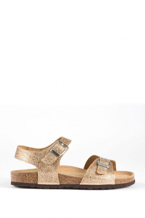 10273 Kifidis-Ch Kadın Sandalet 36-40 Gold Glitter
