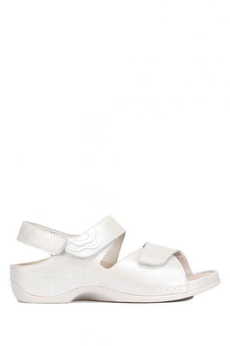 1040 Berkemann Kadın Anatomik Deri Sandalet 3.0-8.5 Silver Perlato/Str. - 146