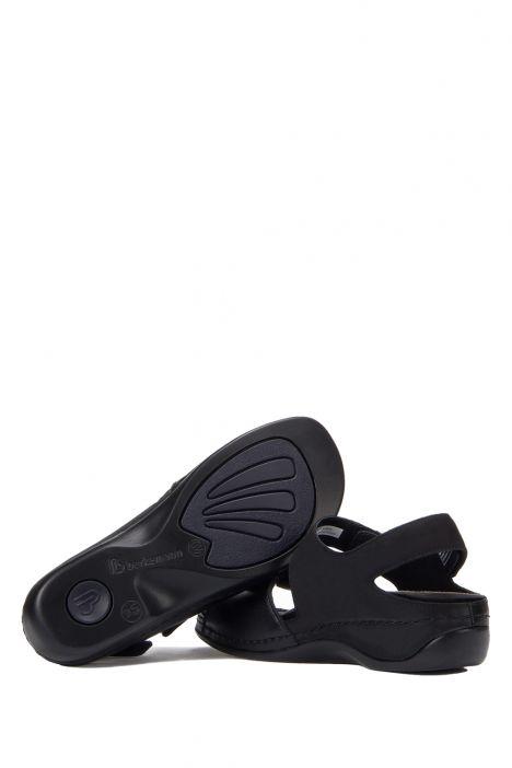 1040 Berkemann Kadın Aatomik Deri Sandalet 3.0-8.5 Schwarz Leder/Str. - 970