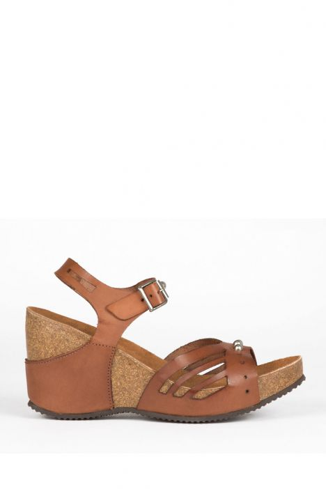 10969 Ch-Kifidis Kadın Sandalet 36-41 CUOIO-KAHVERENGİ TONU