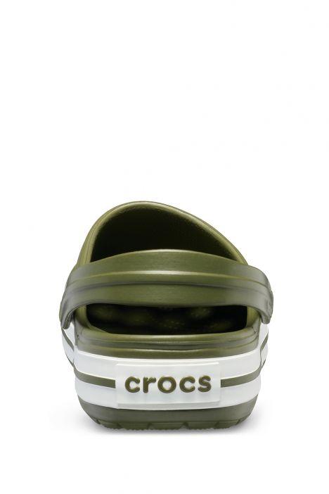 11016 Crocs Crocband Unisex Sandalet 36-44 Army Green/White