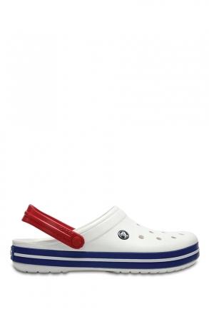 11016 Crocs Crocband Unisex Sandalet 36-44 WHITE/ BLUE JEAN