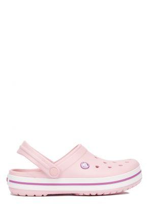11016 Crocs Crocband Unisex Sandalet 36-44 Pearl Pink / Wild Orchid