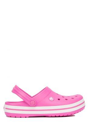 11016 Crocs Crocband Unisex Sandalet 36-44 Electric Pink / White