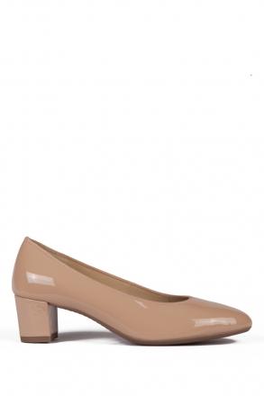 11486 Ara Kadın Topuklu Rugan Ayakkabı 3-7 SOFTLACK, PUDER - 06SP