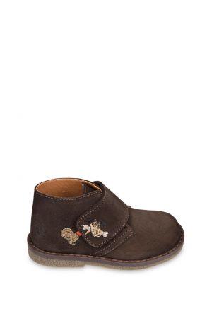 1185B4 Kifidis Melania Hakiki Deri Çocuk Ayakkabı 22-26 Kahverengi / Testamoro