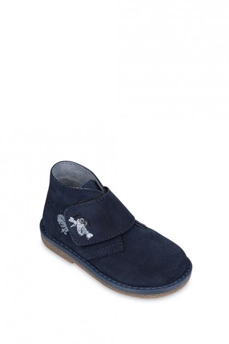 1185B4 Kifidis Melania Hakiki Deri Çocuk Ayakkabı 22-26 Mavi / Blue