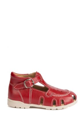 120 Kalite Çocuk Ayakkabı 25-30 Kırmızı / Red