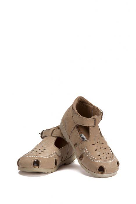 120 Kalite İlk Adım Çocuk Ayakkabısı 19-24 Nubuk Bej / Nubuck Beige