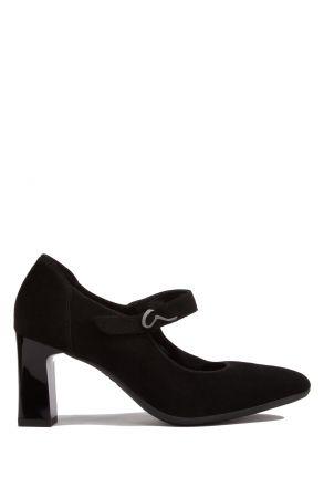 12015 Ara Kadın Topuklu Süet Ayakkabı 4.0-6.5