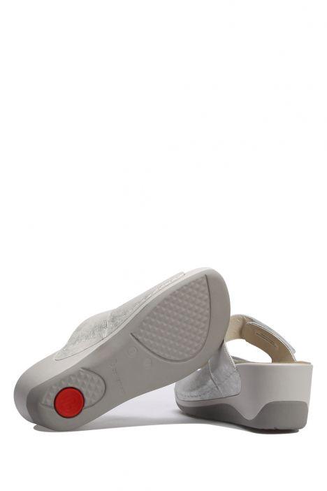 1201 Berkemann Kadın Topuklu Anatomik Terlik 3.0-7.5 Light Silver - Leder - 510