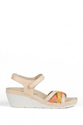 1221 Berkemann Kadın Anatomik Deri Sandalet 3-8,5 Cr./Orange/Gelb Leder - 778