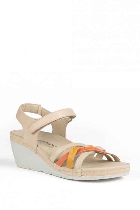 1221 Berkemann Kadın Sandalet 3-8,5 Cr./Orange/Gelb Leder - 778