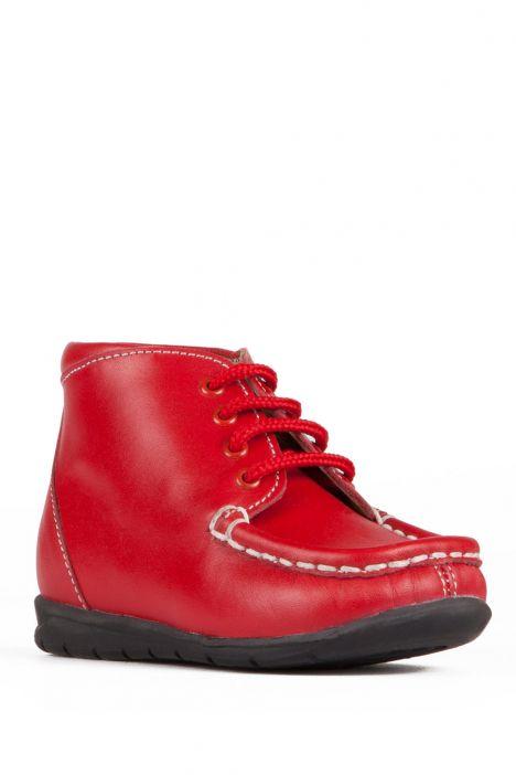 128 Kalite İlk Adım Çocuk Ayakkabısı 19-24 Kırmızı / Red