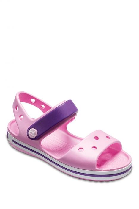 12856 Crocs Çocuk Sandalet 22-32 CARNATİON / AMETHYST