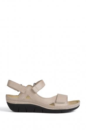 1320 Berkemann Kadın Anatomik Sandalet 3-7,5 Beige - 766