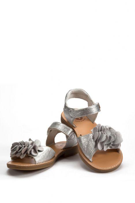 132434 Garvalin Çocuk Sandalet 25-30 PLATIN-BEJ TONU